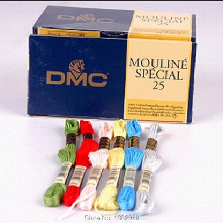 You Can Choose Any Colors And Quantity DMC Cross Stitch Embroidery Thread Floss--Total 200 Pieces