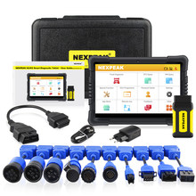 NEXPEAK K2 Heavy Duty Truck Diagnostic Tools Diesel OBD Scanner Full System Data Analysis ECU Reset Mileage Adjustment/DPF/ABS