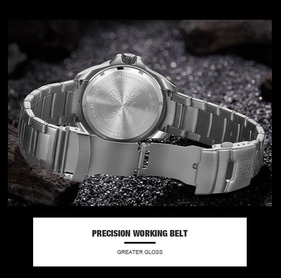 H75f77cc8eec94952b72b1b9de10718d7A Men's Watches Top Luxury Brand NAVIFORCE Analog Watch Men Stainless Steel Waterproof Quartz Wristwatch Date Relogio Masculino