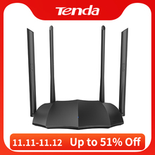 Tenda Router AC8 Gigabit Version 2.4GHz 5GHz WiFi 1167Mbps WiFi Repeater 128MB DDR3 High Gain 4 Antennas Network Extender