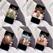 Couples Cartoon Lovely Pink Pet Pig Printing Drawing Phone Case cover Shell for Samsung a3 a5 a6 a9 a7 a8 a10 a20 a40 a70 case(China)