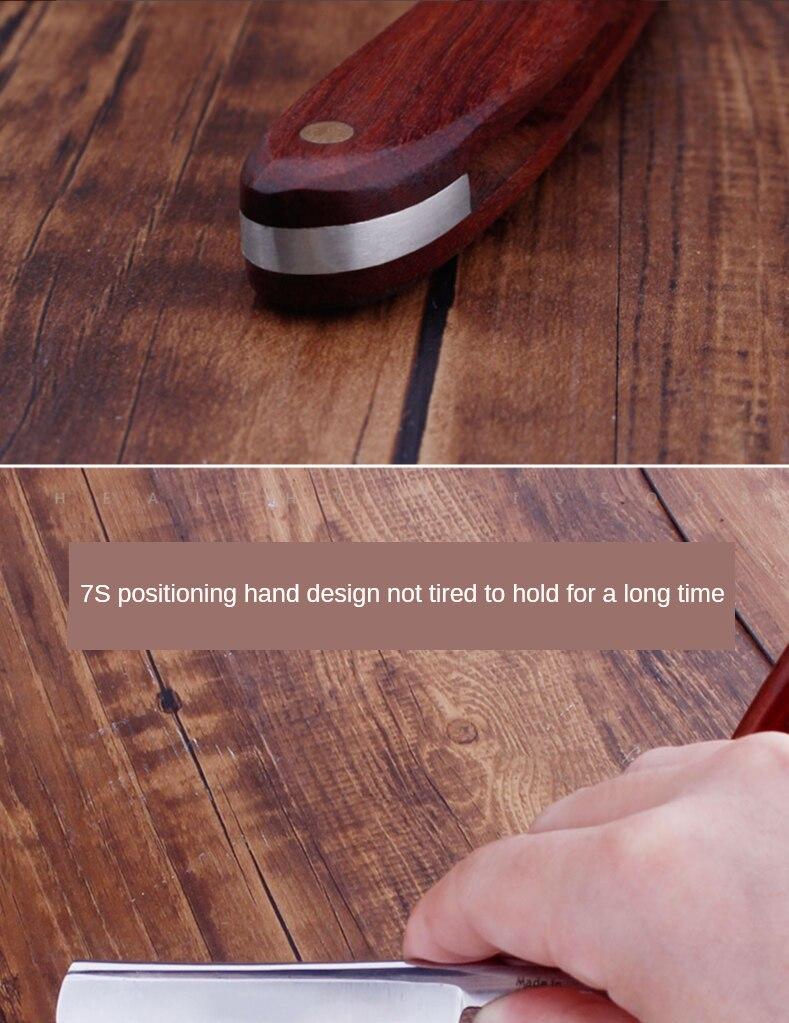 em linha reta manual barbeiro faca bolso