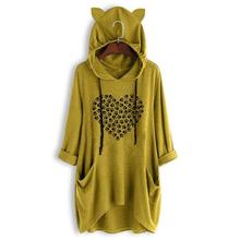 New Fashion Mid Sleeve Hooded T-Shirt Cat Paw Letters Print For Women Tshirt Summer Cute Top Femme Tumblr