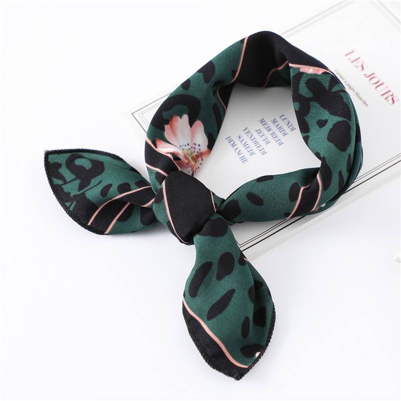 190## Silk Scarf Square Satin Headscarf Womens Fashion Scarfs Neckerchief Neck Tie