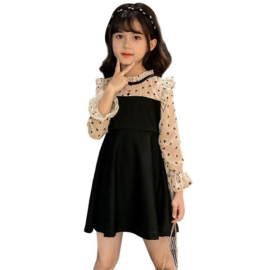 Платье для девочек, лоскутное платье, длинное праздничное платье для девочек, Детский костюм с узором, костюм для девочек 6, 8, 10, 12, 14 лет