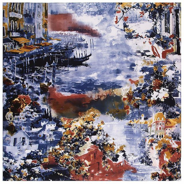 2020 New Winter Scarf Van Goghs Oil Painting Luxury Brand Twill Silk Wholesale Square Scarf Kerchief Shawl Scarves For women