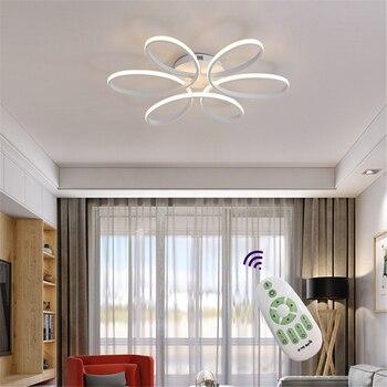 Gran oferta de luces de techo LED modernas para sala de estar, dormitorio, comedor, luminarias, elementos para lámparas de techo blanco AC110V 220V