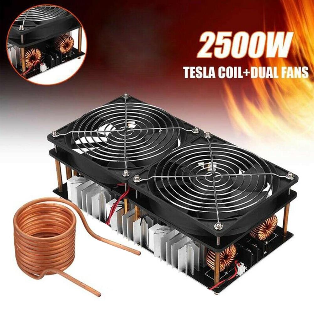12 48V 2500W ZVS Durable carte PCB haute fréquence professionnel électronique Induction chauffage Flyback pilote bricolage bobine de bois