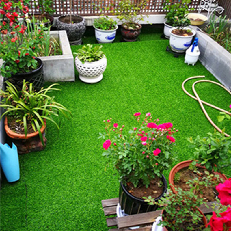 100X100cm Artificial Lawn Outdoor Decoration Green Enclosure Turf Playground Wedding Plastic Fake Lawn Carpet Garden Decor