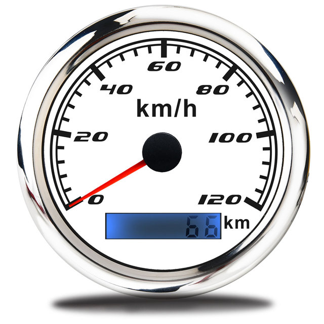 85mm Car Boat GPS Speedometer + GPS Antenna Odometer 0 200 km/h 12V/24V with Backlight for Motorcycle Yacht Vessel Vehicle Speedometers    -