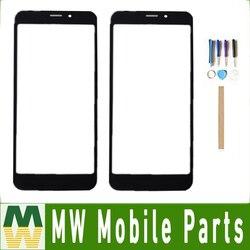 Dla Prestigio Wize Q3 PSP3471 PSP3471DUO montaż digitizera ekranu dotykowego czarny z narzędziami + taśma w Panele dotykowe do telefonów komórkowych od Telefony komórkowe i telekomunikacja na