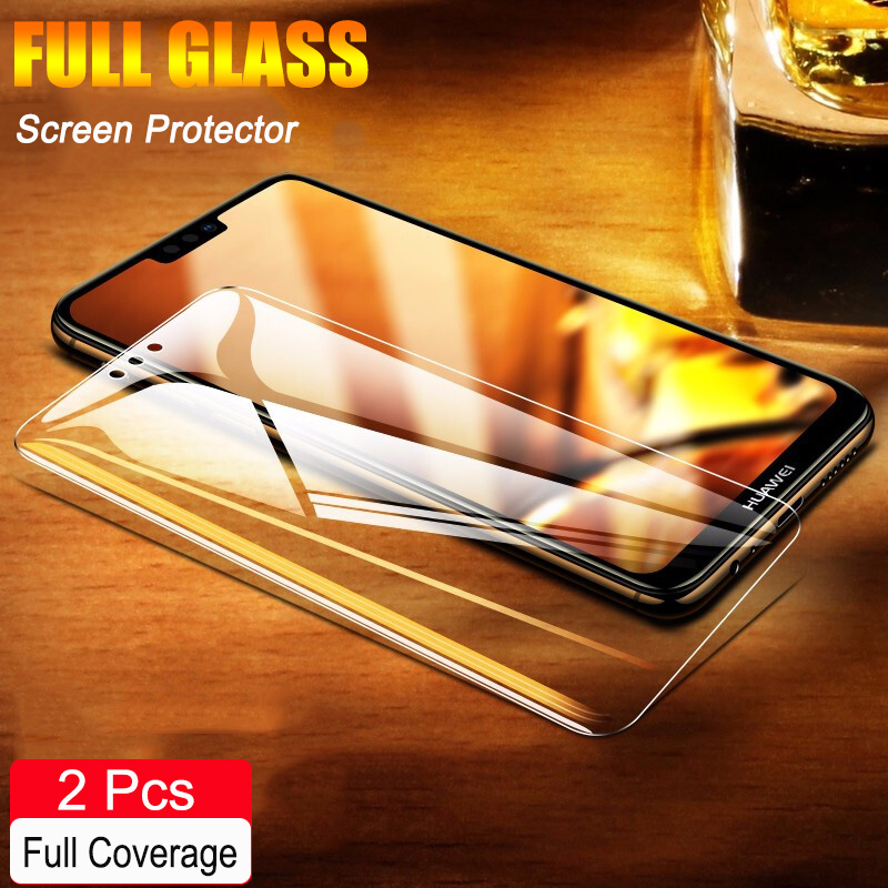 2Pcs Full Coverage Tempered Glass For Huawei Honor 9X 8X MAX Screen Protector Explosion Proof Glass For Honor 9X 8X Glass Film