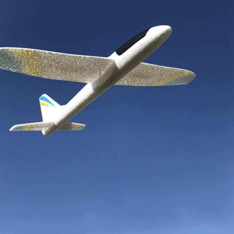 Avion en mousse volante, jouets en mousse, jeu à Led, pour enfants, 36cm 2
