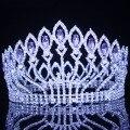 Женская тиара в стиле барокко, свадебная тиара с кристаллами, корона для свадьбы, конкурсные украшения для волос, барочная диадема, головной...
