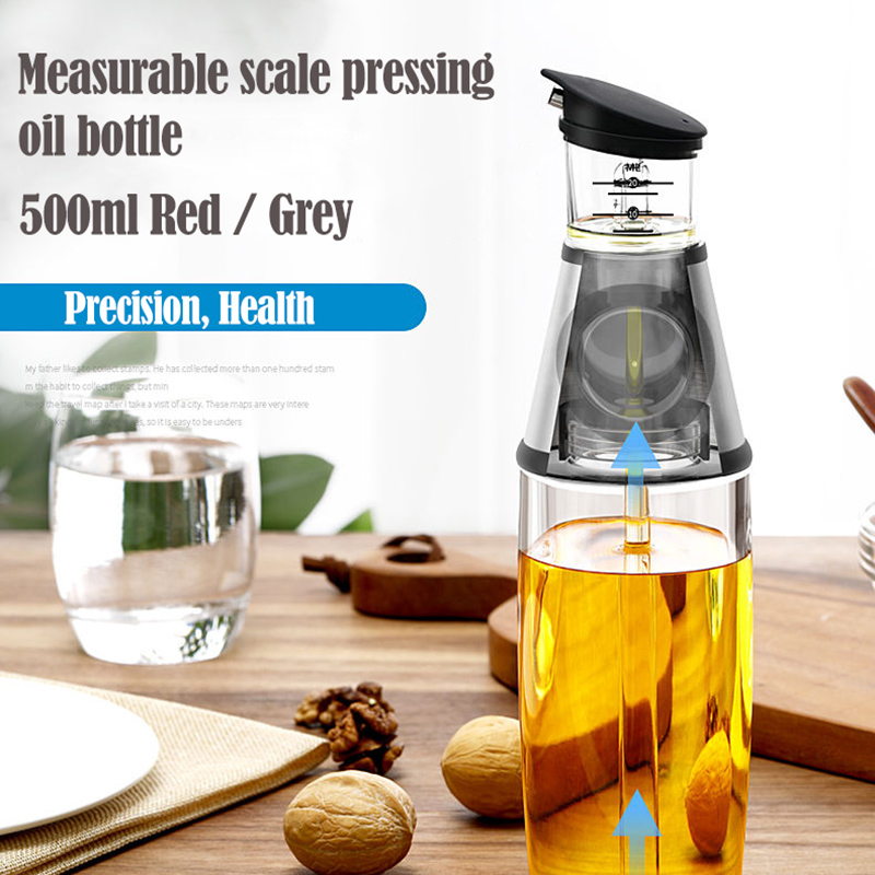 Cooking <font><b>Kitchen</b></font> <font><b>Oil</b></font> Dispense Olive <font><b>Oil</b></font> Dispenser <font><b>Bottle</b></font> With Measurements And Drip-Free Spout For Vinegar Cruet New 500ML image
