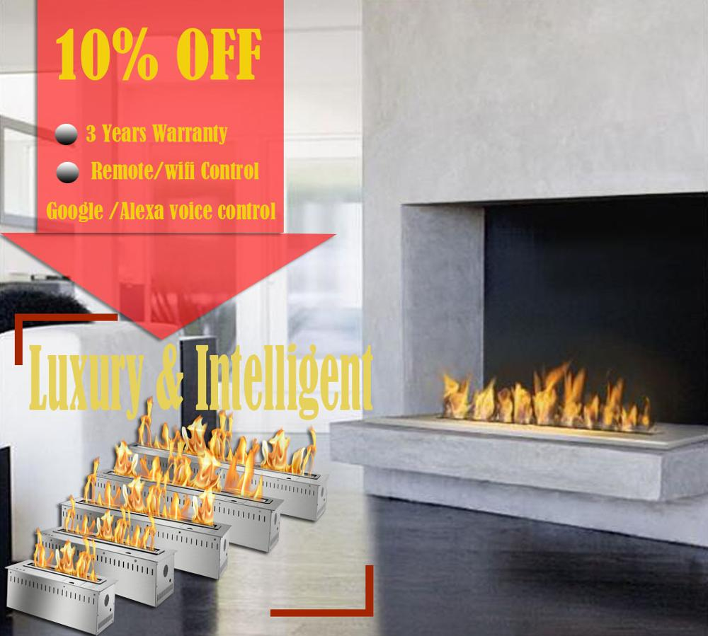 Inno Living Fire 48 Inch Alcohol Remote Fireplace Burner Ethanol Insert