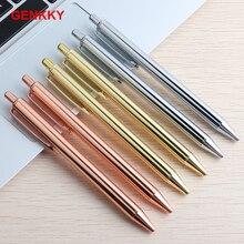1 Pcs Genkky Office Metal Ballpoint pen 0.7mm G2 Refills Black Blue Student Supplies