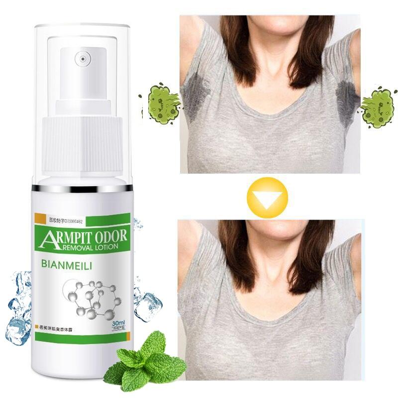 Armpit Odor Removal Lotion Antiperspirante Deodorant Men Underarms Remove Foot Bad Body Odor Water Deodorizer Spray 30ml