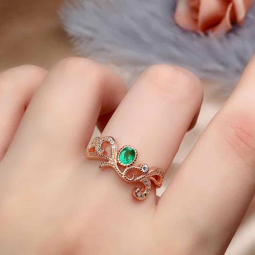 S925 patrón de plata esterlina clásica Ajustable Abierto Anillo de dedo mujeres voroco