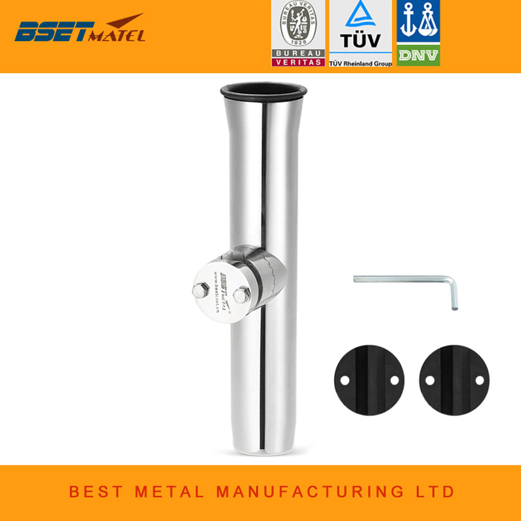 "Boat Marine 316 Stainless Steel Clamp-on Fishing Rod Holders for Rail 3//4/"" to 1/"""
