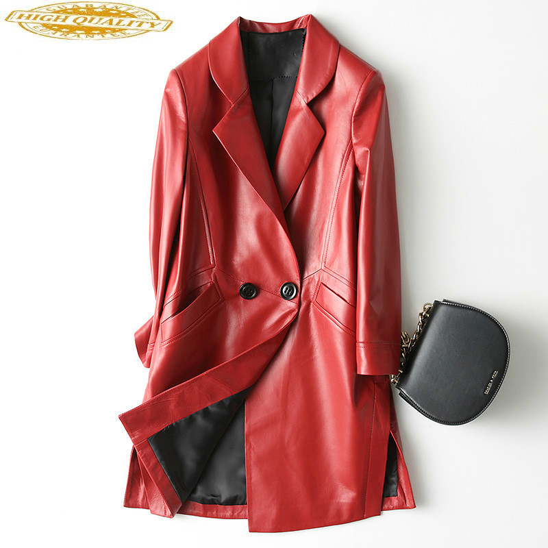 100% Sheepskin Coat Genuine Leather Jacket Women Real Leather Windbreaker Korean Spring Autumn Veste Femme KQN22100-6 YY1567