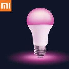 Xiaomi bombilla LED de Color MIjia E27, Original, para casa, 1880 7000K, Wifi, aplicación remota
