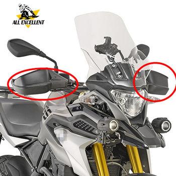 Set Motorcycle accessories front windshield and handgrip hand guard For BMW G310GS G 310 GS 2017 2018 Touring Windscreen