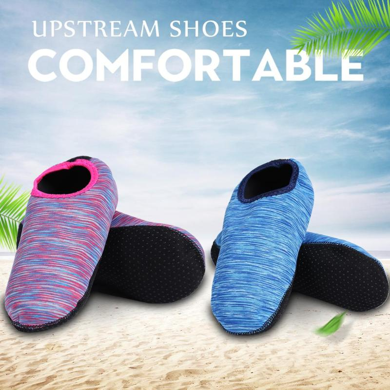 Beach Shoes Outdoor Beach Anti-skid Print Water Shoes Breathable Fast Dry Diving Socks Zapatos Hombre Beach Surfing Socks