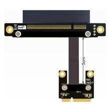 ADT Link 8Gbps Mini PCI e mPCIe To PCIe x8 PCI E 8x Adapter Extension Cable Gen3.0 Mini PCIe Ribbon Cable Mini pci e