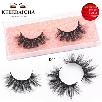 KEKEBAICHA 3D False Eyelashes Extension Makeup Handmade Dramatic Long Lashes Reusable Cruelty Free Mink Eyelashes Mink Lash E11