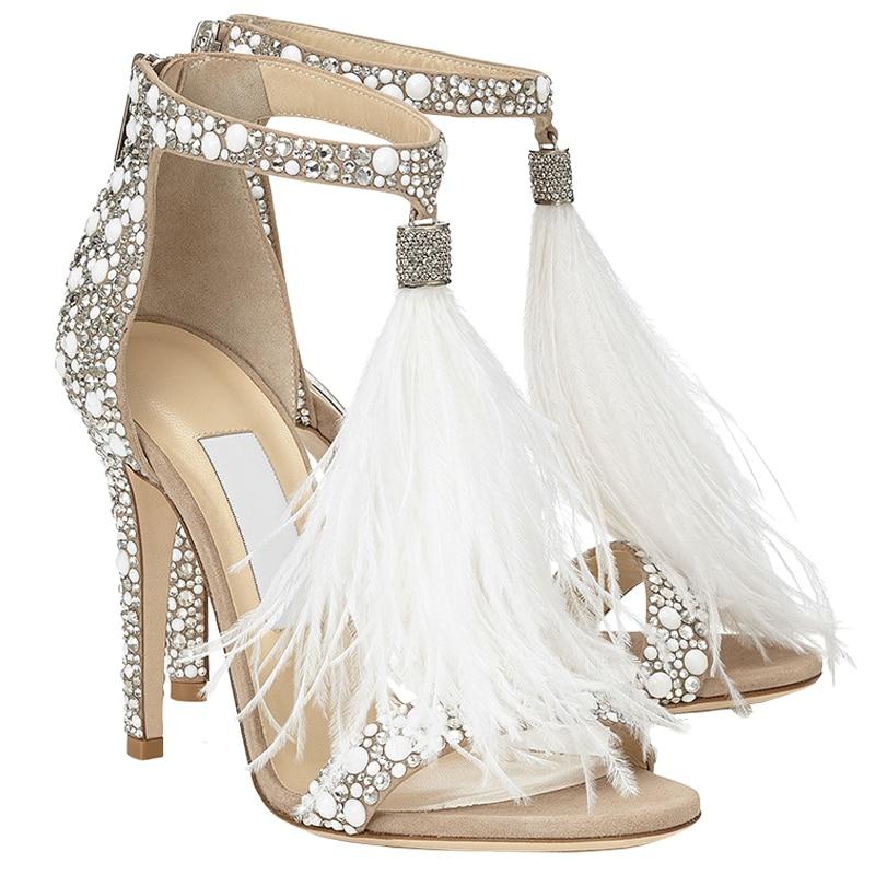 New wedding shoes sandals zapatos elegantes summer heel sandals scarpe donna estive