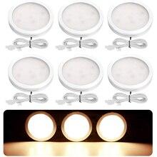 جديد عكس الضوء 2.5 واط DC12V LED تحت حجرة خزانة ضوء الألومنيوم LED صندوق عرض أضواء ل طاولة مطبخ دولاب عفريت مصابيح