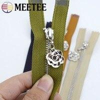 Meetee 2/5pcs 3# Metal Zipper 20/25/30/40/50/60/70cm Auto Lock Close&open Zip for Sewing Bags Pocket Wallet Garment Accessories
