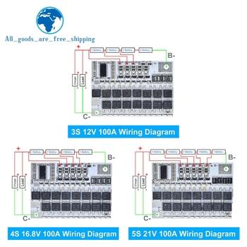 18V 21V 100A 3S 4 5S BMS trójskładnikowa pokrywa baterii litowej płytka obwodu li-polimerowa płytka ładująca tanie i dobre opinie CN (pochodzenie) Nowy REGULATOR NAPIĘCIA Protection Circuit Board do komputera -40-+85 Voltage Regulator DIY KIT Electronic Module