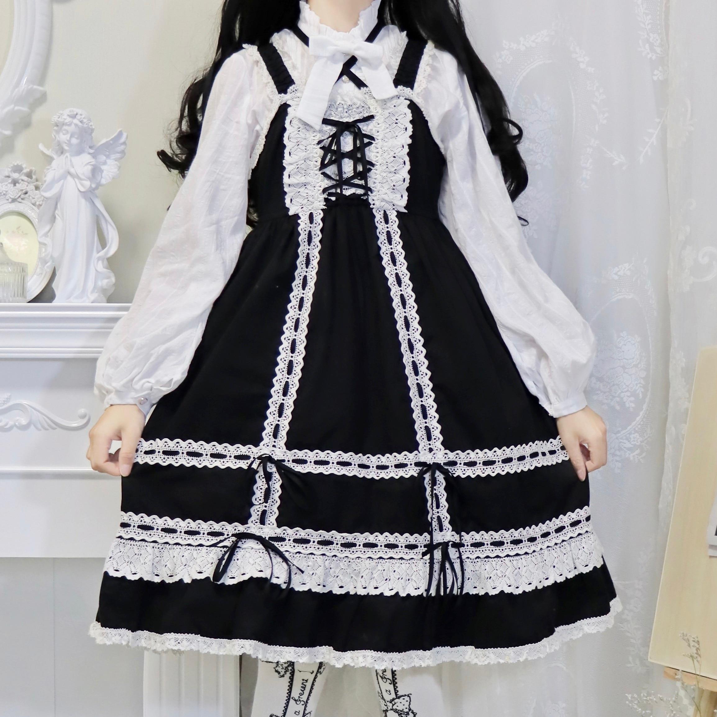 Купить японского аниме белая лолита блузка винтаж falbala стенд бантом