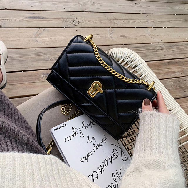 PU Leather Crossbody Bags For Women 2020 Autumn Small Shoulder Crossbody Bag Fashion Quality Chain Handbags and Purses