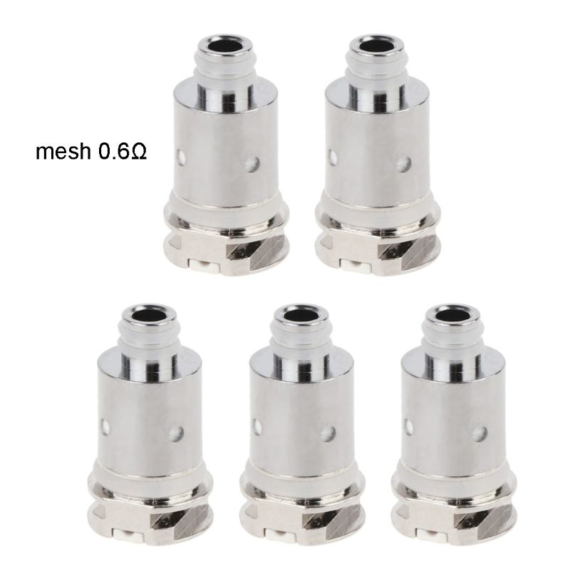 5Pcs/pack 1.4/0.8/0.6Ω Replacement Coils Metal Coil Head For Nord Regular/Mesh MTL/Mesh Tank Atomizer Accessories