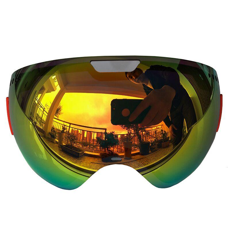 Lens For Ski Goggles Snow-3800 Anti-fog UV400 Large Spherical Snowboarding Eyewear Glasses