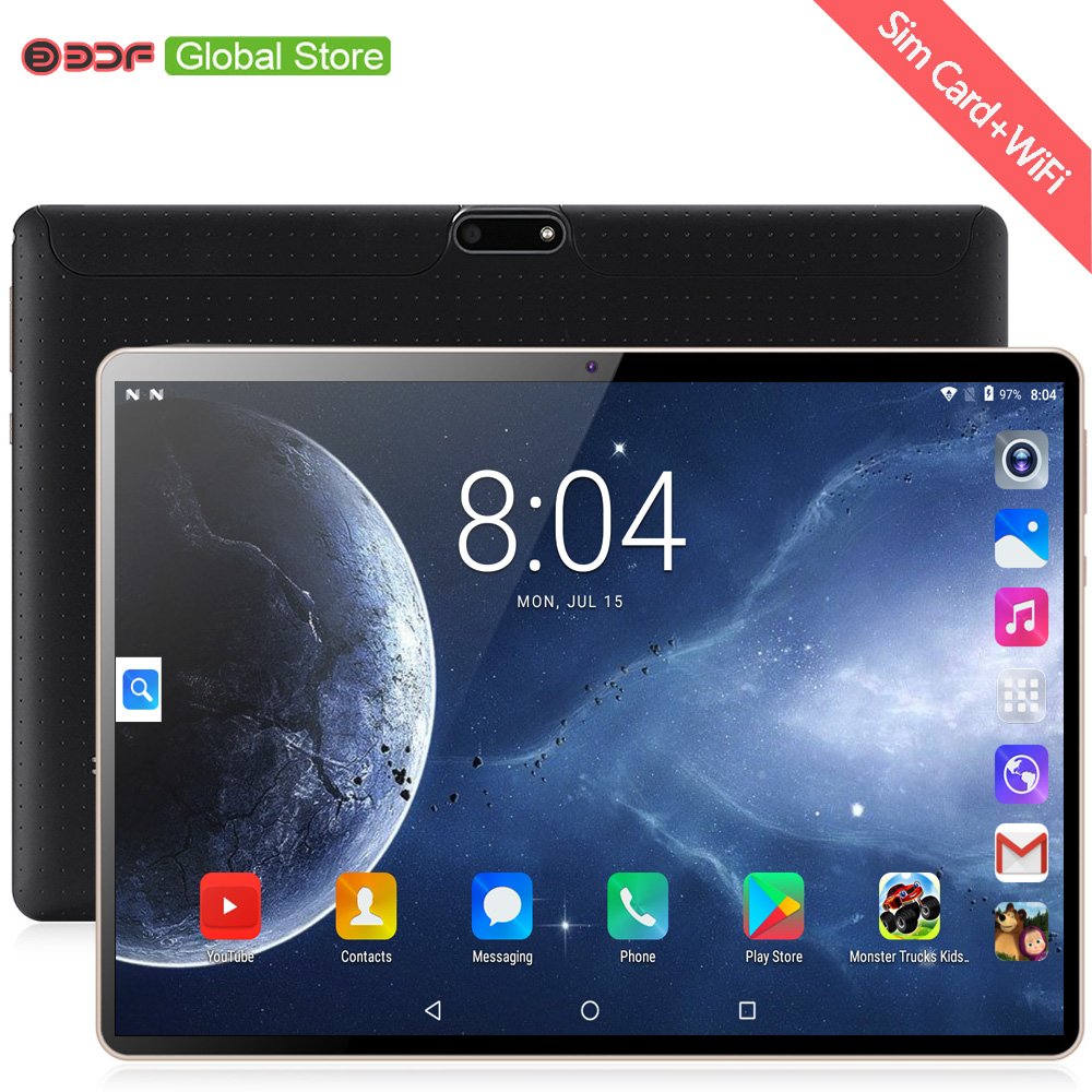 2019 novo 10 polegada tablet pc octa núcleo 64g tablets android 7.0 wifi bluetooth gps 3g telefone duplo sim 10.1 polegada guia