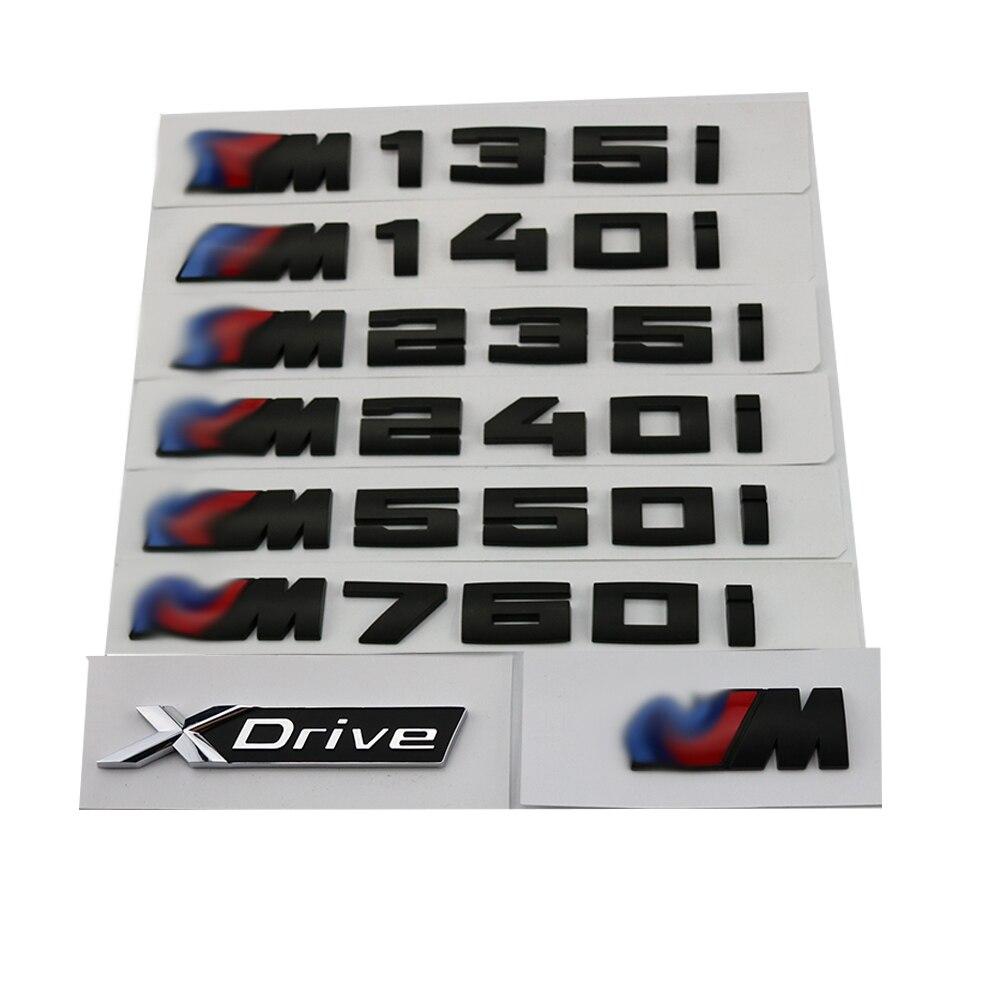 New Glossy Black Car Sticker 3D ABS Decal Badge Emblem Logo ForBMW M X1 X2 X5 XDrive M140I M135I M235I M550I M240I E84 F39 E70
