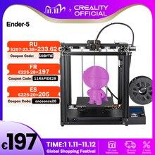3D принтер CREALITY, встроенная Магнитная пластина с двумя осями и функцией возобновления печати
