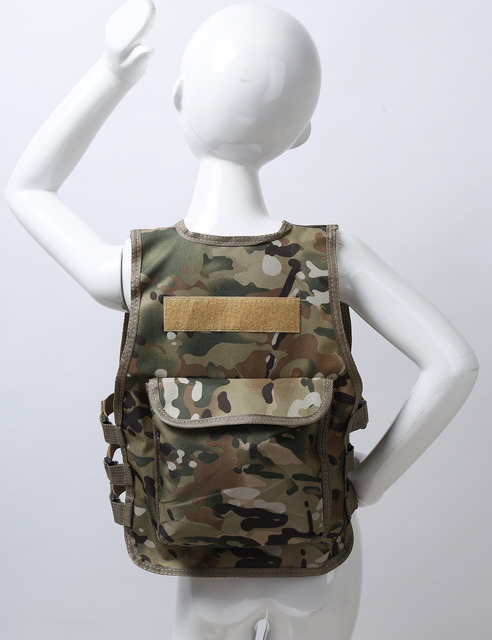 Military Kids Camouflage Hunting Clothes Men Combat Equipment Tactical Army Vest Children Cosplay Costume Airsoft Sniper Uniform 3