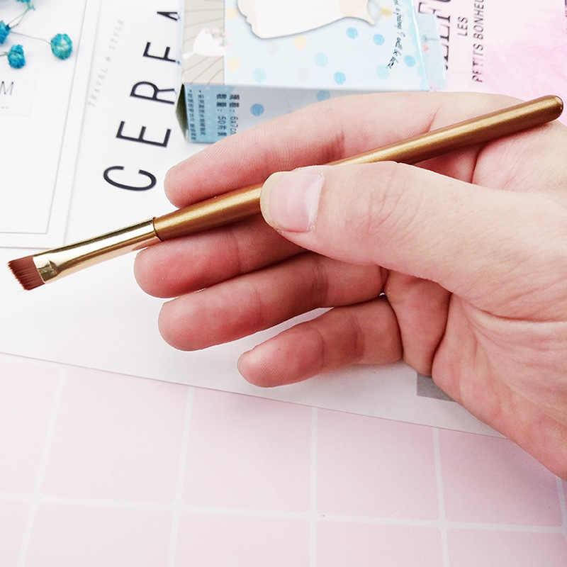 1 sztuk brwi szczotka nylonowa do włosów szczotka do brwi szczotka do oczu pod kątem pędzel do makijażu pojedyncze płynny eyeliner kosmetyki narzędzia