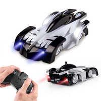 Livraison directe nouveau mur escalade voitures télécommande RC voiture de course Anti gravité plafond rotatif cascadeur jouets électriques pour la vente en gros