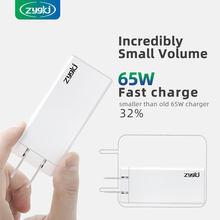Zyg supera gan 65w pd tipo-c carregador rápido portátil, que é adequado para carregar iphone, samsung, xiaomi e huawei móvel
