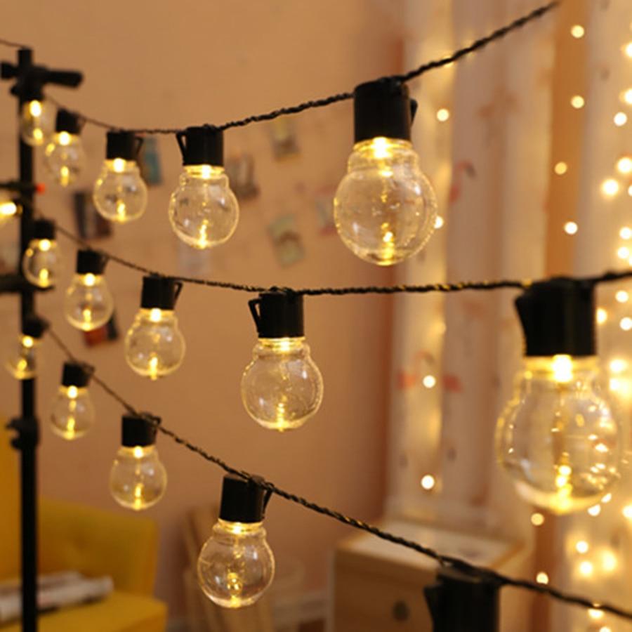 Thrisdar 5/10M 5CM Globe Ball Fairy LED String Lights Outdoor 220/110V Holiday Wedding Christmas LED String Fairy Garland