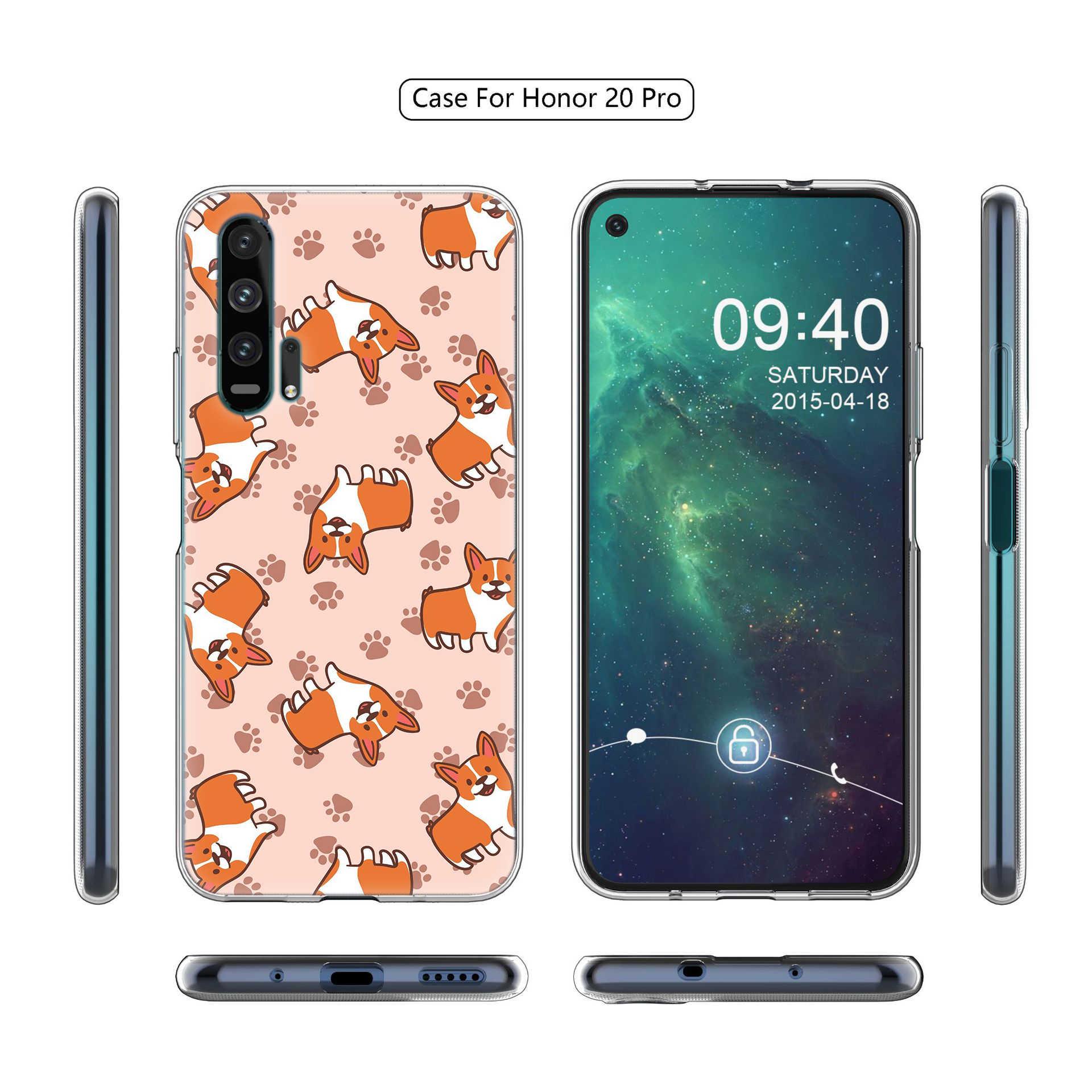 Carino Corgi Dog Custodia Morbida per Huawei Y5 Y6 Y7 Y9 2019 Honor 20 V30 Pro 10 20 Lite 8S 8X 9X Gioco 3e Della Copertura di Tpu