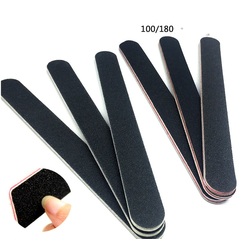 5/1pcs Professional Nail Art Sanding Files 100/180 Grit Double Side Nail Buffer Files Sandpaper Block For Manicure Tools