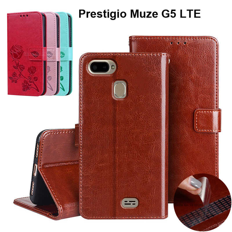 Luxury Business Flip Case for Prestigio Muze G5 LTE PSP5522 DUO Cover Case Wallet Phone Bag Cover Coque Holder With Card Pockets