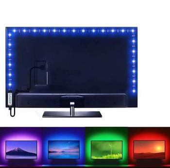 LED Strip Llight USB DC 5V 1M 2M 3M 4M 5M Screen TV Background Lighting Flexible Light Lamp Bluetooth Remote SMD2835 Desk Decor image